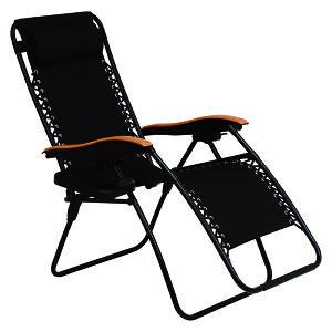 【送料無料】リラックスチェアー LC-4058BK (約)幅80×奥行86〜163×高さ79.5〜112.5×座面高46cm ■ブラック | 家具 おしゃれ インテリア 椅子