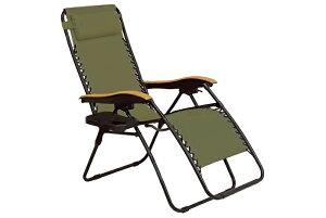 【送料無料】リラックスチェアー LC-4058BR (約)幅80×奥行86〜163×高さ79.5〜112.5×座面高46cm ■カーキ | 家具 おしゃれ インテリア 椅子