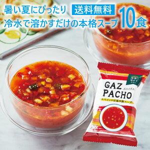 【送料無料・おまけ付き】冷製スープ ガスパチョ 10食セットフリーズドライ 即席 保存食 インスタント コストコで話題のフリーズドライメーカー最新作 野菜スープ PILLBOX ピルボックス