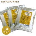 【ヘナ3袋セット/100% オレンジ】白髪染めなら安心の植物原料/カラー:オレンジ【セット】