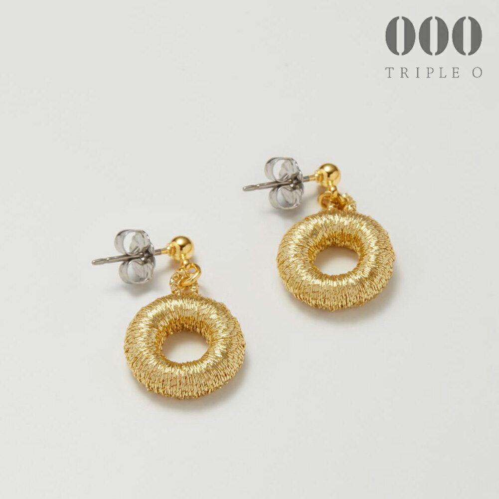 【000/TRIPLE O】ドーナツ(ゴールド)ピアス/イヤリングER015