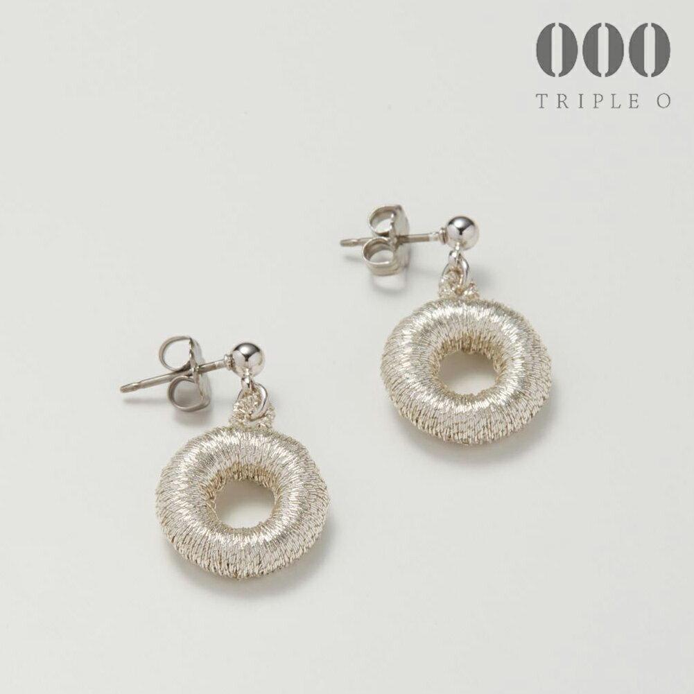 【000/TRIPLE O】ドーナツ(シルバー)ピアス/イヤリングER015