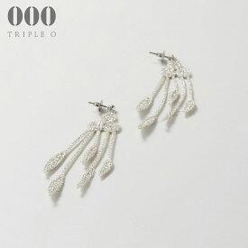 【000/TRIPLE O】プランツ(シルバー)ピアス/イヤリング ER008