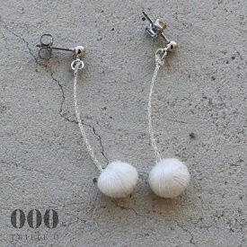 ◎【000/TRIPLE O】スフィア チェリー(ホワイト)ピアス/イヤリング ER021