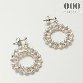 ◎【000/TRIPLE O】ドイリー(シルバー)ピアス/イヤリング ER010