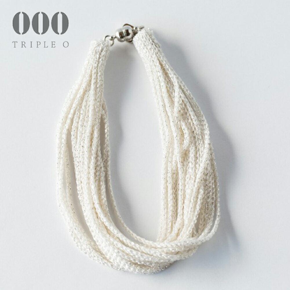 【000/TRIPLE O】ストリーム ラメ ブレスレット(シルバー)STL003