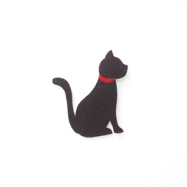 【リバース プロダクツ/Re:VERSE PRODUCTS】アイロン接着フェルトアップリケ(猫)A-10