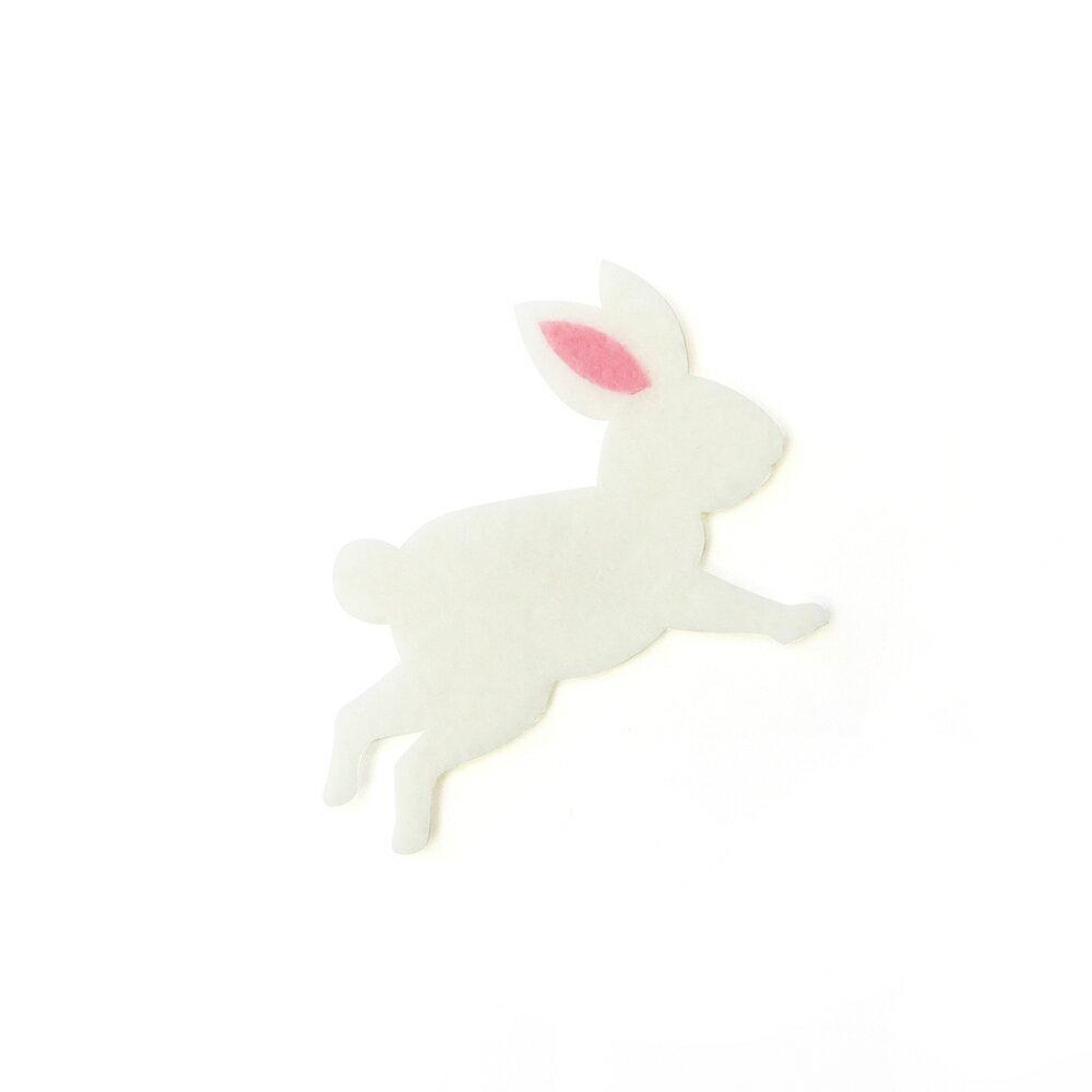 【リバース プロダクツ/Re:VERSE PRODUCTS】アイロン接着フェルトアップリケ(ウサギ)A-41