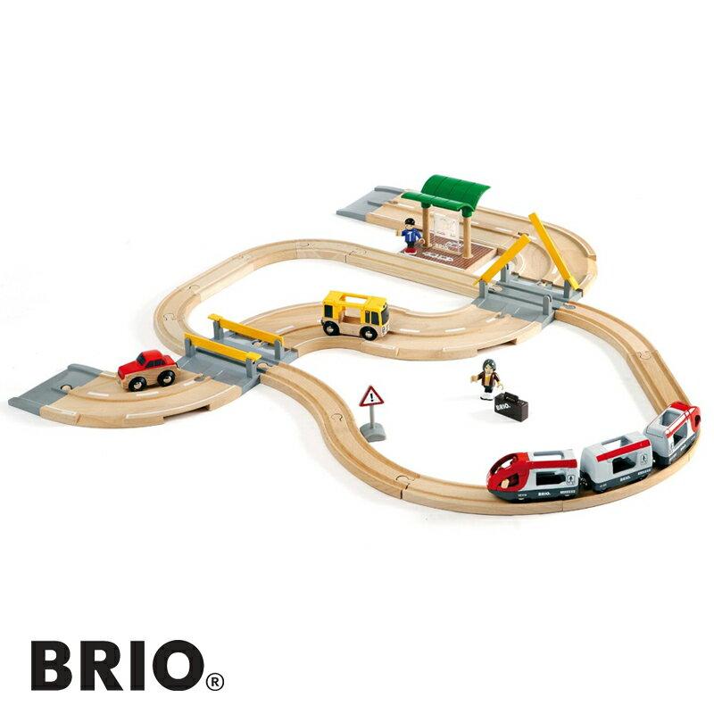 BRIO(ブリオ)【33209】レール&ロードトラベルセット/木のおもちゃ