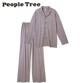 【People Tree/ピープルツリー】オーガニックコットン 男女兼用パジャマ(グレージュ)