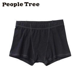 【People Tree/ピープルツリー】オーガニックコットン ストレッチ レディース・ボクサーショーツ(ブラック)