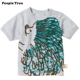【ピープルツリー/PeopleTree】オーガニックコットンベビー しあわせハリネズミ Tシャツ<70/80cm>ライトグレイメランジ