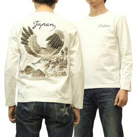 イオラニ 長袖Tシャツ 新鷹柄 居楽仁 iolani 総刺繍 和柄 メンズ ロンtee 183801 オフ白 新品