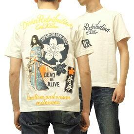 抜刀娘 Tシャツ 絡繰魂 和柄 メンズ 半袖tee R212587 オフ白 新品