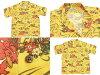 Ted man Hawaiian shirt tedman F firm men short sleeves shirt tah-100 yellow new article