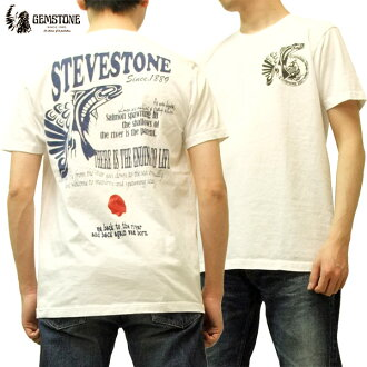 Gemstone T shirt gemstone salmon traditional native Canadian Indian men's short sleeve tee gm5002 white brand new