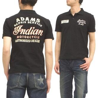 印第安摩托车开领短袖衬衫东洋企业人短袖POLO im76211黑新货