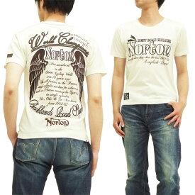 ノートンモーターサイクル Tシャツ ワントーンtee メンズ 半袖 32n1016 オフ白 新品
