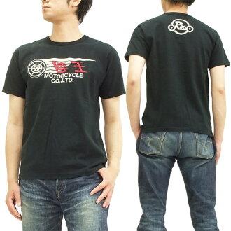 男子的陆地王T恤日本制造Harley-Davidson摩托车短袖tee 44RG002黑色新货