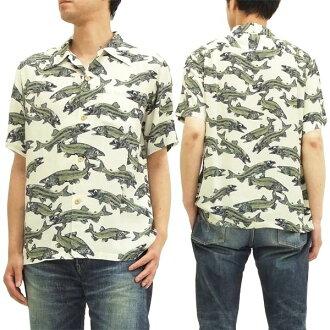 萨姆冲浪 Aloha 廓尔喀衬衫国家鳟鱼鱼又名夏威夷 keoni 东方企业 ss36211 白色全新