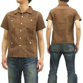 フェローズ キューバシャツ 14S-PCS1 バンダナ柄 pherrows メンズ 開襟 半袖シャツ ブラウン 新品