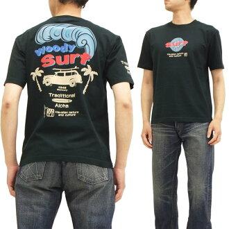 抗抗 T 襯衫 ATT 143 伍迪衝浪衝浪餐飲有限公司男短袖 t 恤黑色新品牌