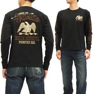 Indian Moto cycles long sleeve T shirt IMLT-412 Eagle Indian Motocycle mens Ron tee black brand new