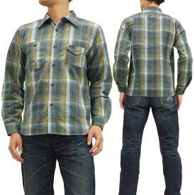 フェローズ ミディアムオンスネップフランネルチェックシャツ 14W-750WS-C Pherrow's(Pherrows) メンズ 長袖シャツ ブルー系 新品