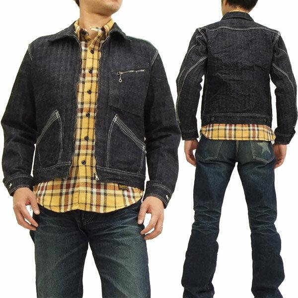 サムライジーンズ へリンボンワークジャケット SM19B-P サムライ自動車倶楽部 メンズ デニムJKT 新品