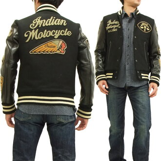 Indian Moto cycle stagen IMJK-403 Indian Motocycle men's award jackets black x black brand new