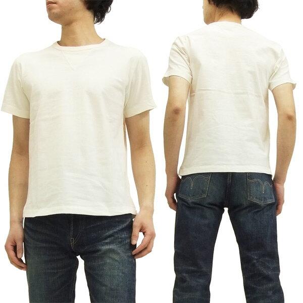 バーンズ アウトフィッターズ Tシャツ br-8145 Barns Outfitters ユニオンスペシャル 丸胴 ヴィンテージガゼット 無地 半袖tee #11 オフ白 新品