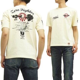好奇的T恤SYT-140 0战ZERO FIGHTER F商行和睦花纹人短袖tee断开白新货
