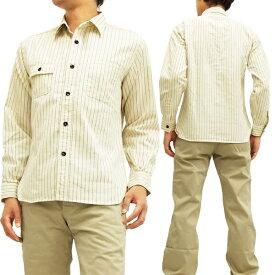 シュガーケーン ホワイトウォバッシュストライプ ワークシャツ SC27076 Sugar Cane 東洋エンタープライズ メンズ 長袖シャツ 新品