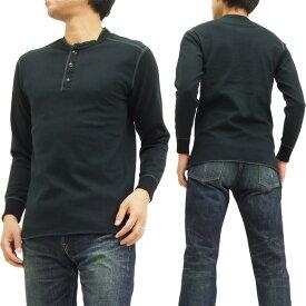 フェローズ ヘンリーネック 長袖Tシャツ PCT2 Pherrow's Pherrows 無地 メンズ ロンtee ブラック 新品