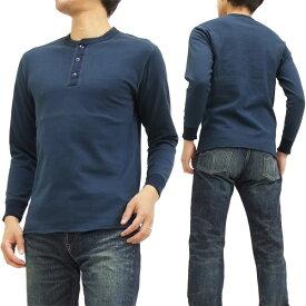 フェローズ ヘンリーネック 長袖Tシャツ PCT2 Pherrow's Pherrows 無地 メンズ ロンtee ネイビー 新品