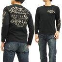 グラディエイト 長袖Tシャツ 453524 GLADIATE ロゴ刺繍&プリント メンズ ロンtee ブラック 新品
