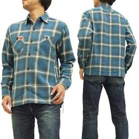 キャッツポウ ワークシャツ CP27056 ツイルチェック CAT'S PAW 東洋エンタープライズ メンズ 長袖シャツ #125ブルー 新品