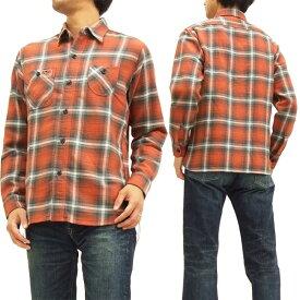 キャッツポウ ワークシャツ CP27056 ツイルチェック CAT'S PAW 東洋エンタープライズ メンズ 長袖シャツ #165レッド 新品