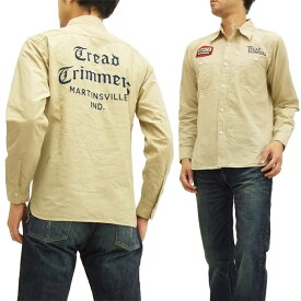 フェローズ カスタムワークシャツ 15W-720WS-W-P Pherrow's Pherrows メンズ 長袖シャツ ベージュ 新品