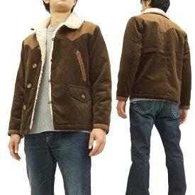 フェローズ コーデュロイ ランチコート 15W-PRBJ1 Pherrow's Pherrows メンズ ジャケット ブラウン 新品