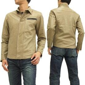 グラディエイト フェイクレザー シャツジャケット 453530 GLADIATE メンズ JKT ベージュ 新品