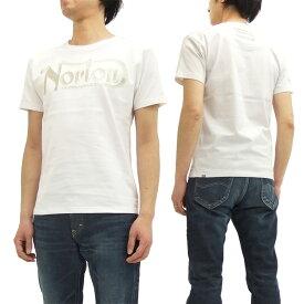 ノートンモーターサイクル Tシャツ 62N1000 Norton Motorcycle ロゴ刺繍 メンズ 半袖tee オフ白 新品