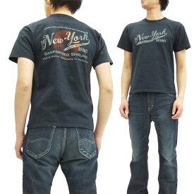 フェローズ Tシャツ 16S-PT4 Pherrow's Pherrows THE NEW-YORK メンズ 半袖tee S.ブラック 新品
