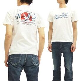 フェローズ Tシャツ 16S-PT4 Pherrow's Pherrows THE NEW-YORK メンズ 半袖tee オフ白 新品