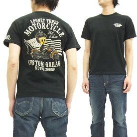 トゥイーティー Tシャツ 525401 TWEETY バイク ローブローナックル メンズ 半袖tee ブラック 新品