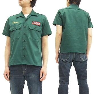 武士的牛仔裤新工作 SMTC16 汽车俱乐部男式衬衫短袖衬衫绿色