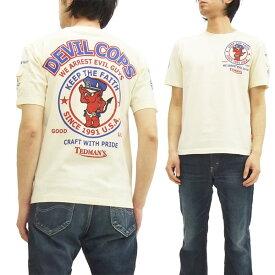 テッドマン Tシャツ TDSS-442 TEDMAN 警察官 エフ商会 メンズ 半袖tee オフ白 新品