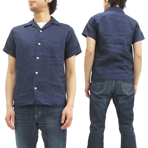 フェローズ オープンカラーシャツ 16S-PIS1 Pherrow's Pherrows メンズ 半袖シャツ ウォバッシュドット 新品