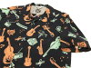 Star of Hollywood Open Collar Shirt SH37278 Vince Ray Men's short Sleeve Shirt Black