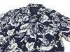 Kura Japanese Open Collar Shirt Men's Short Sleeves shirt 25809 Indigo